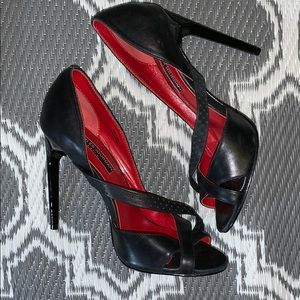 Charles Jourdan Paris Black Heels Size 6M